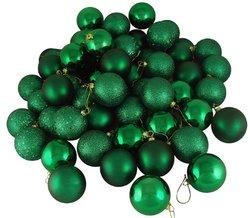 "Vickerman 4 Finish Ornament Set - Emerald Green - Size: 2.4"""