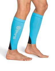 Skins Unisex Essentials Compression Calf Tights - Cyan/Black - Size: XS