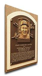 MLB Montreal Expos Gary Carter Baseball Hall of Fame Plaque on Canvas- Brown