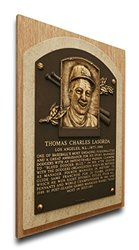 MLB Los Angeles Dodgers Tom Lasorda Baseball Hall of Fame Plaque on Canvas