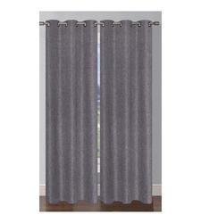 Window Elements Oscar Luxury Faux Linen Shimmer Grommet 76 x 84 in. Curtain Panel Pair, Taupe