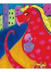 Oopsy daisy Dress-up Dragon Canvas Wall Art  by  MaryJo Olsen, 14x18