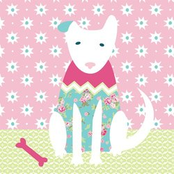 "Oopsy Daisy Kids Classic Dog Girl Stretched Canvas Art - Size: 14"" x 14"""