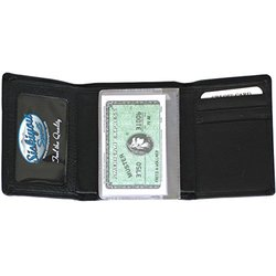 Arizona Coyotes Deluxe Leather Tri-fold Wallet - Black