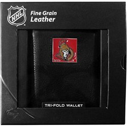 Siskiyou NHL Ottawa Senators Deluxe Leather Tri Fold Wallet - Black