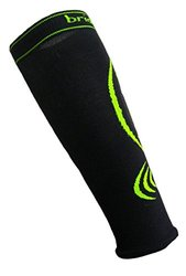 Bridgedale Compression Calf Sleeve Socks, X-Large, Black/Fluro