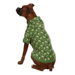 Zack & Zoey Polyester/Cotton Special Ops Dog Hoodie, XX-Small, Army Green