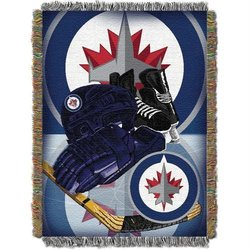 NHL Winnipeg Jets Tapestry Throw - Blue
