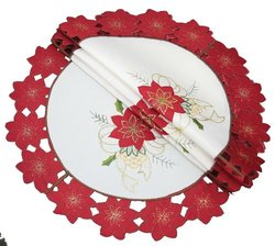 """Xia Home Fashions Christmas Placemats - 16"""" - Set of 4"""
