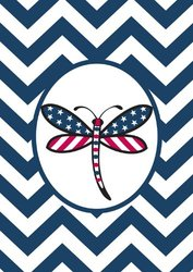 Toland Home Garden 109509 Patriotic Dragonfly House Flag, Blue
