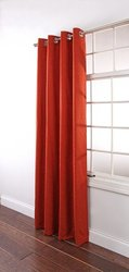 Stylemaster Renaissance Home Fashion Utah Textured Grommet Window Panel, 55 by 84-Inch, Rust