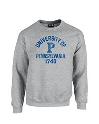 SDI Men's NCAA Pennsylvania Quakers Neck Sweatshirt - Sport Grey - Size: S
