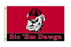 BSI NCAA Georgia Bulldogs 3-by-5 Foot Flag With Grommets