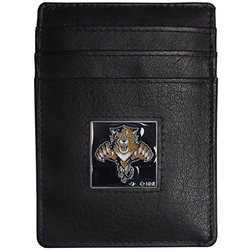 Florida Panthers Leather Money Clip/Cardholder Packaged in Gift Box