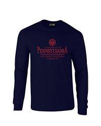NCAA Classic Seal Long Sleeve T-Shirt - Navy - Size: XXL