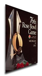 NCAA USC Trojans 1990 Rose Bowl Canvas Program Cover, Regular
