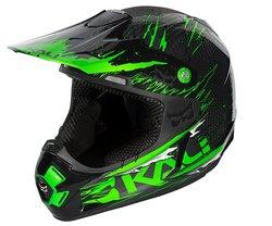 Kali Protectives PRANA Carbon Rip Helmet - Green - Size: Small
