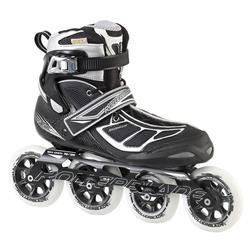 Rollerblade Men's Tempest 100 Performance Skates - Black/Silver - Size: 11.5