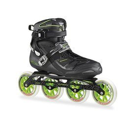 Rollerblade Men's Tempest 110 Performance Skate, Black/Green, 11.5