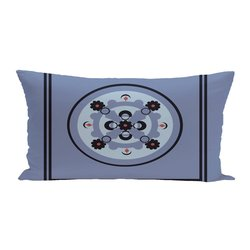 E By Design Kaleidoscope Geometric Print Outdoor Seat Cushion - Cornflower