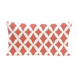 E By Design Lattice Kravitz Geometric Print Outdoor Seat Cushion - Seed