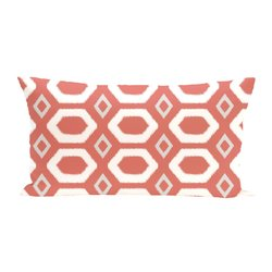 E By Design More Hugs & Kisses Geometric Print Cushion - Seed - Size: One