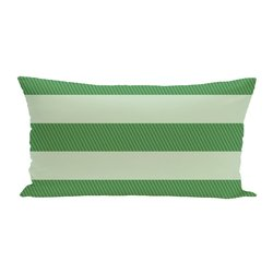 E By Design Windward Stripes Print Seat Cushion - Leaf Green - Size: One