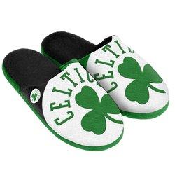 Forever Collectibles Nba Boston Split Slide Slipper - Green - Size: Large