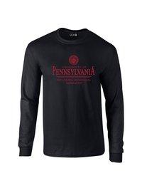 SDI NCAA Pennsylvania Quakers Seal Long Sleeve Tshirt - Black - Size: Xl