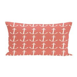 E By Design Anchors Away Coastal Print Outdoor Seat Cushion - Seed