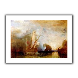 ArtWall 'Ulysses Deriding Polyphemus' Flat Unwrapped Canvas Art by William Turner, 36 by 52-Inch