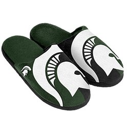 Forever Collectibles NCAA Michigan State Spartans Slipper - Green - Sz: Sm