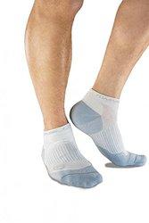 XL White Men's Ankle Compression Socks