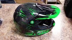 Kali Protectives Prana Full Helmet Carbon Fiber Rip - Green - Size: Medium