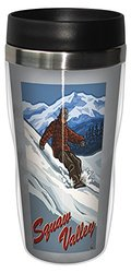 Tree-Free Greetings sg23197 Vintage Squaw Valley Snowboarding by Paul A. Lanquist Stainless Steel Sip 'N Go Travel Tumbler, 16-Ounce, Multicolored