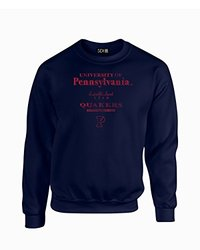 NCAA Unisex Penn Quakers Vintage Crew Neck Sweatshirt - Navy - Size: 2XL