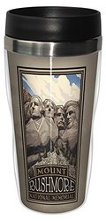 Tree-Free Greetings sg23308 Historic Mount Rushmore National Memorial by Paul A. Lanquist Stainless Steel Sip 'N Go Travel Tumbler, 16-Ounce