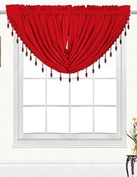 RT Designers Collection Kennedy Swag Valance, Red