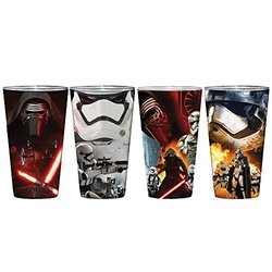 Star Wars Episode VII The Force Awakens 4 Piece Glass Set
