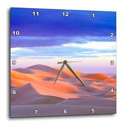 "3dRose 13""x13"" California Sand Dunes At Sunset Wall Clock"