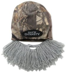 Beard Head Men's Duck Dynasty Camouflage Short Beard Beanie - Grey