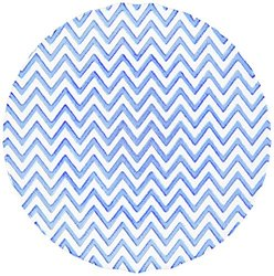 Shiraleah Chevron Dinner Plate - Blue - Size: 11""