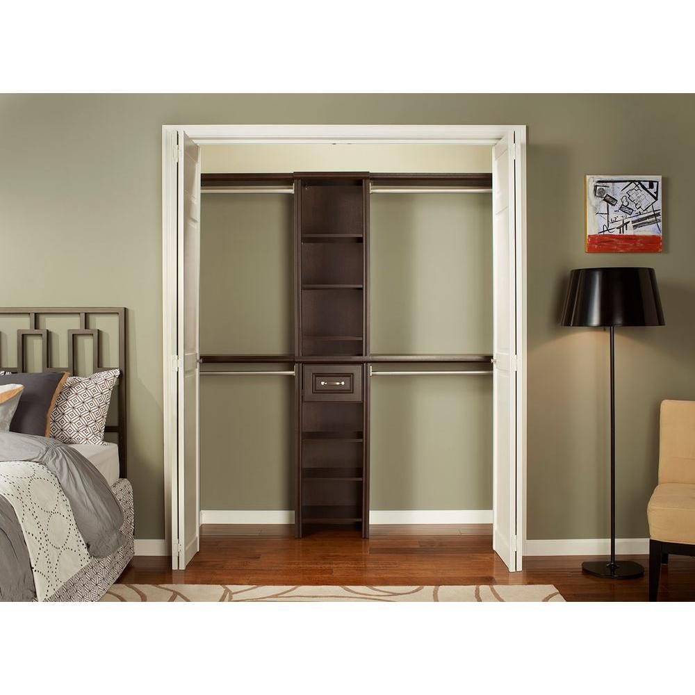 Good Chocolate Narrow Closet Kit ClosetMaid Impressions 16 In. Chocolate Narrow  Closet Kit ...