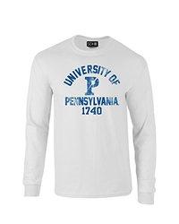 SDI NCAA Men's Mascot Block Arch Long Sleeve T-Shirt - White - Size: Small
