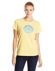 Life is good Women's Going Nowhere Creamy Tee, Canary Yellow, Small