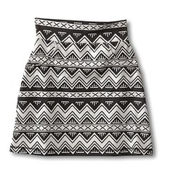 KAVU Women's Paulina Skirt, BW Chevron, Small