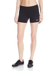 New Balance Women's Accelerate 4-Inch Fitted Shorts - Black - Sz: X-Large