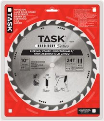 """Task Tools T22435 10"""" 24T ATB Hard Body Ripping Blade with 5/8-inch Arbor"""
