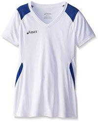 ASICS Girl's Junior Set Jersey, White/Royal, Large
