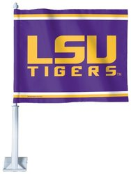 NCAA Louisiana State Fightin Tigers Car Flag